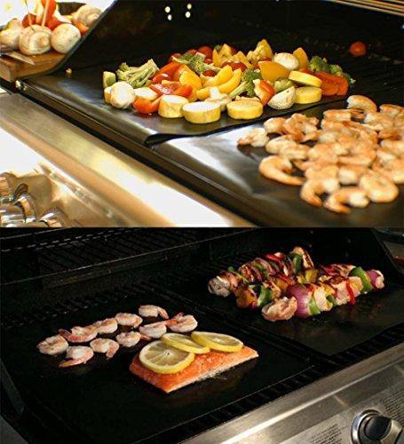 RENOOK Heavy Duty Non-Stick BBQ Grill Mats, Set of 6
