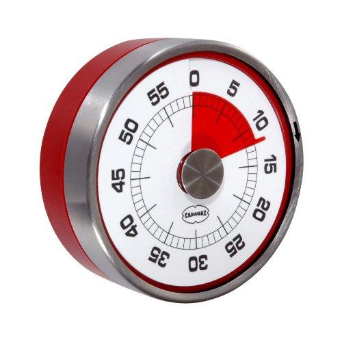 Cabanaz Retro Eieruhr/Küchentimer Tachometer red
