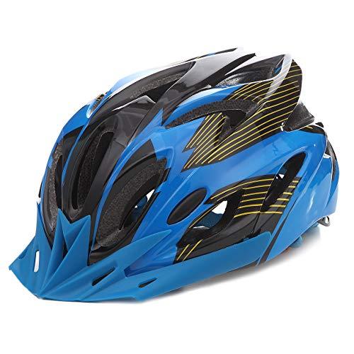 Athyior Radhelm Herren Damen 52-61cm Fahrrad Helm Einstellbar Stirnband Fahrradhelm für Roller Skateboard Fahrrad Sport Bike Helmet