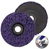 MIZOMOR 2pcs Discos CSD Rostio 125 mm para Amoladora de ángulo Disco Abrasivo de Policarburo Disco de limpieza Purple