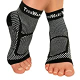 Best Achilles Tendon Supports - TechWare Pro Ankle Brace Compression Sleeve - Relieves Review