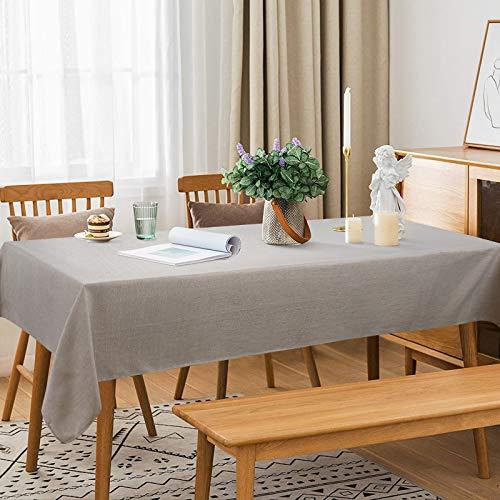 Athbavib 無地テーブルクロス ベージュ 正方形 140*140cm テーブルカバー 北欧 シンプル リネン 麻 お手入れ簡単