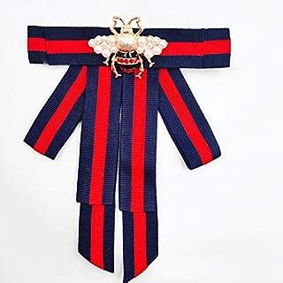 Satin lace Ribbon Bow Tie Brooch Pin for Women Girls Men Shirt Tie Jabot Collar Neck Tie Cravat Wedding (Butterfly-Lt Purple)