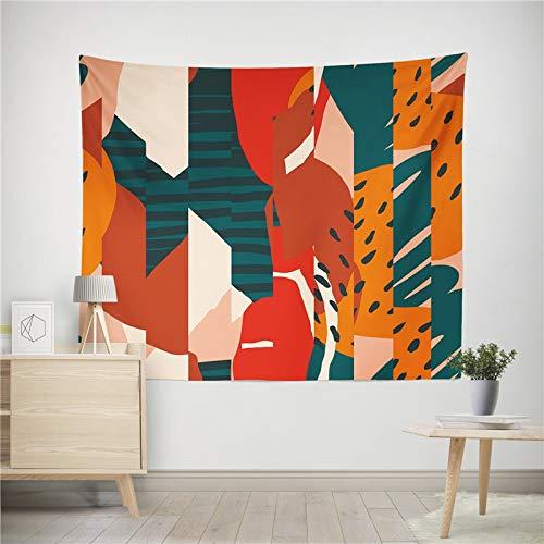 WERT Planta Abstracta Tapiz Colgante de Pared Manta de Arte Sala de Estar Dormitorio Dormitorio decoración del hogar Mantel Picnic Toalla de Playa A12 150x130cm