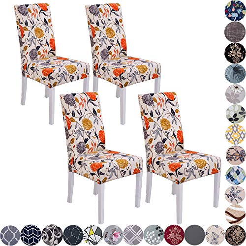 Lalluxy Stretchy Parson Chair Slipcovers for Dining Room Chair seat Covers Chair Protectors for Party Pet Protection Universal Fit Soft Polyester Set...