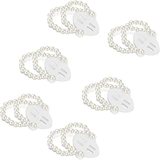 6 Pieces Elastic Pearl Wrist Corsage Bands Wristlets Stretch Pearl Wedding Wristband Faux Pearl Bead Corsage Accessories B...