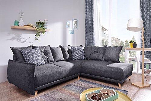 Bobochic - Lena - Sofa in der rechten Ecke - Dunkelgrau - 236x90x190cm
