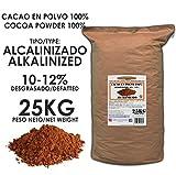Cacao Venezuela Delta - Cacao en Polvo Puro 100% · Alcalinizado · Desgrasado 10-12% · 25kg