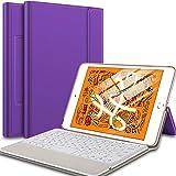 IVSO Keyboard Case for iPad Mini 5, Wireless Case with Keyboard Ultra Lightweight Shockproof One-Piece Wireless Keyboard Stand Case/Cover for iPad Mini 5 Tablet (Purple)