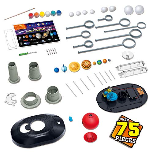 Product Image 6: Playz Solar System Model Kit with 4 Speed Motor, HD Planetarium Projector, 8 Painted Planets, and 8 White Foam Balls with Paint and Brush for a Hands-On STEM DIY Project