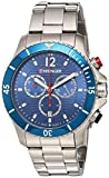 Wenger Men's Seaforce Chrono Swiss-Quartz Watch with Stainless-Steel Strap, Silver, 9 (Model: 01.0643.111)