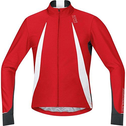 Gore Bike WEAR Herren Stretch-Rennrad-Jersey, Langarm, Gore Windstopper, Oxygen WS Jersey Long, Größe: S, Rot/Schwarz, SWOXLM