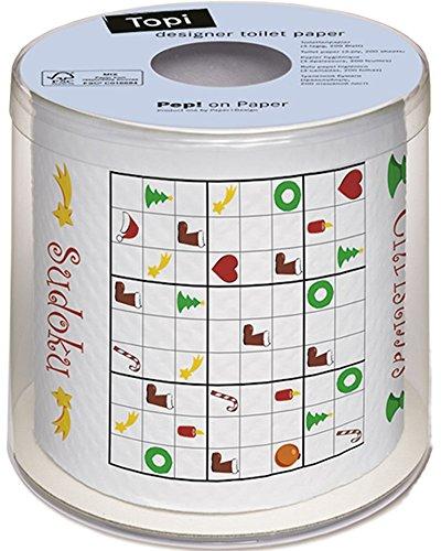 PAPER+DESIGN Toilettenpapier FSCMix 200 Bl. Xmas Sudoku