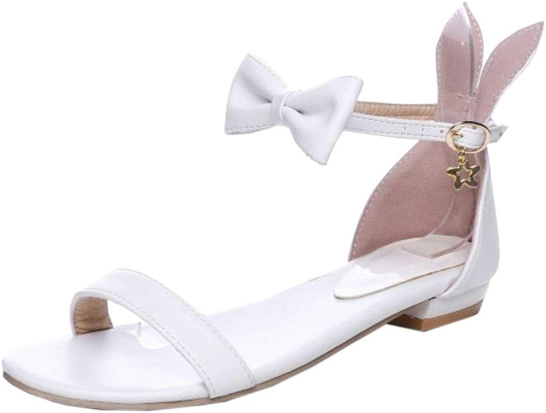 Unm Women Ankle Strap Sandals Flats