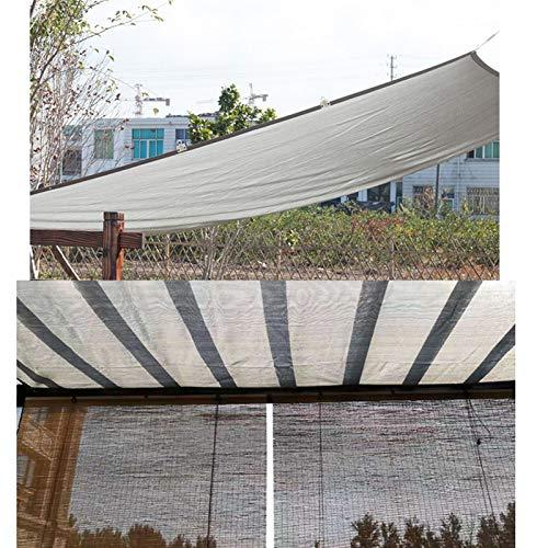 LJIANW Vela de Sombra Toldo Vela, Rectángulo Vela De Sombra Solar Pabellón Tela De Toldo Tarea Pesada Respirable Exterior Patio Cochera, Hacemos Tamaño Personalizado (Color : Gray, Size : 5x7m)
