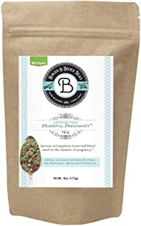 Birds & Bees Teas - Peaceful Pregnancy Tea, Red Raspberry Leaf Tea That is a Nourishing and Safe Prenatal Tea for Your First Trimester Through Third Trimester - 40 Servings, 4.0 oz