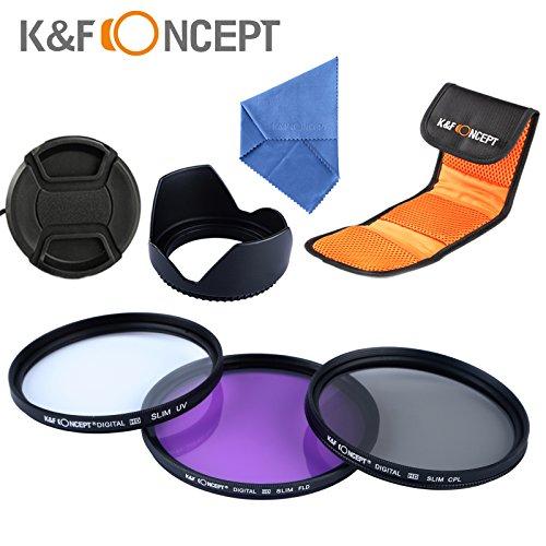 K&F Concept 67mm UV CPL FLD Filtro Kit de Accessorios de Lente para Canon 7D 700D 600D 70D 60D 650D 550D para Nikon D7100 D80 D90 D7000 D5200 D3200 D5100 D3200 D5300 DSLR Cámaras