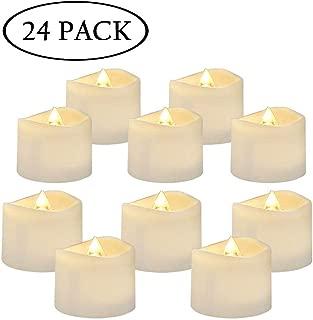 AMAGIC LED Tea Light Candles 24 Pack, Battery Tea Lights Bulk, Flickering Electric Tea Lights for Christmas Decor, Warm White, D1.4'' H1.25''
