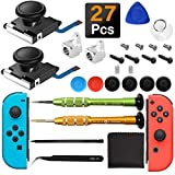 iiwey 2-Pack 3D Replacement Joystick Analog Thumb Stick for Switch Joy-Con Controller & Switch Lite,2 Pack Joy-con Metal Latch, Include Y1.5 Screwdrivers, Joycon Joystick Replacement to Fix Drift Joy-con Stick