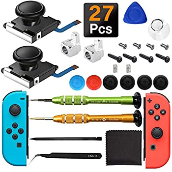 iiwey 2-Pack 3D Replacement Joystick Analog Thumb Stick for Switch Joy-Con Controller & Switch Lite,2 Pack Joy-con Metal Latch Include Y1.5 Screwdrivers Joycon Joystick Replacement to Fix Drift Joy-con Stick