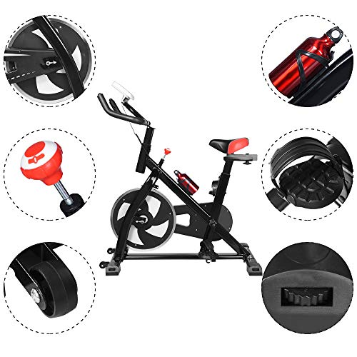2020 NEW Shan_s Spinning Bicycle/Stationary Bike, Belt Drive Indoor Ultra-quiet Exercise Fitness Bicycle Equipment 5