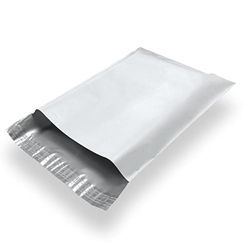 Clear//White by Proosh Tear Proof 100 #4 10x13 Clear View Poly Mailers Shipping Envelopes Plastic Mailing Bags 2.5 Mil Self-Seal