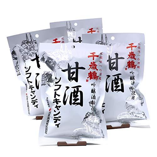 【秋冬限定商品】ロマンス製菓 甘酒ソフトキャンディ 4袋セット(96gx4) 千歳鶴吟醸酒粕使用