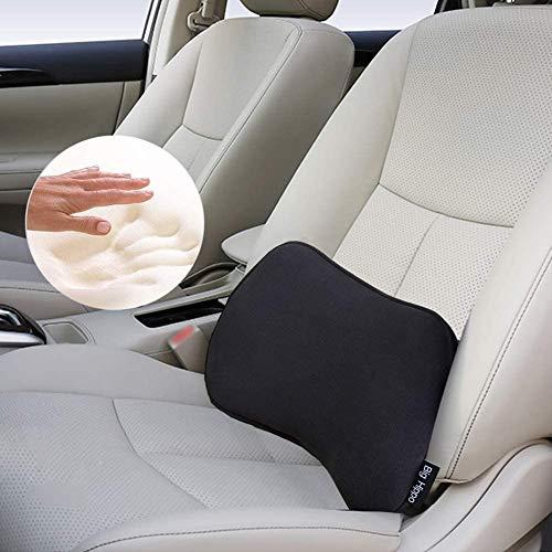 Big Hippo Lendenkissen, orthopädische Lordosenstütze Auto, Memory Foam Stützkissen, ideal für Autos, Bürostühle und Rollstühle (schwarz)