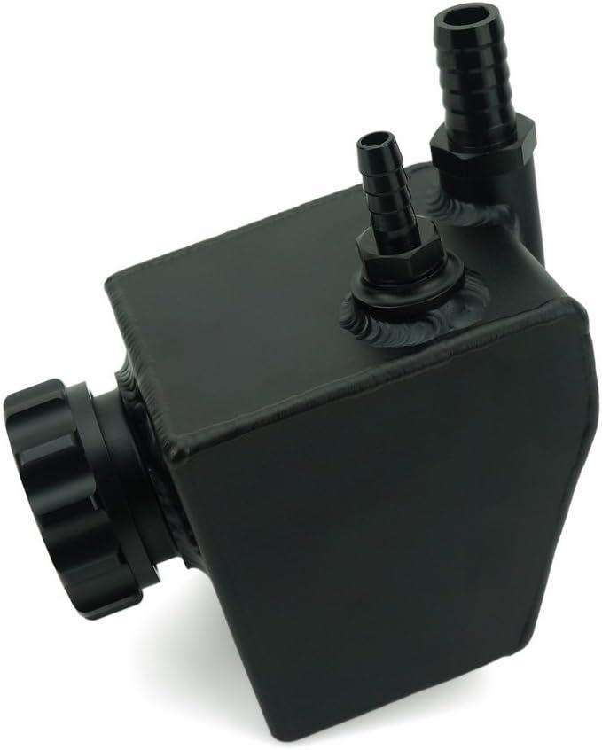QIDIAN Polished Alloy Power Steering Coolant Overflow Tank Reservoir Can for Hol den Commo dore V6 V8 VT VX VU VY VZ VE LS1 LS2 black