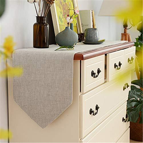 Caminos de mesa minimalista de color solido bandera de mesa moderna de tela camino de mesa para TV Gabinete Zapato Mesa de comedor Decoracion de mesa, tela, C4, 30*210cm