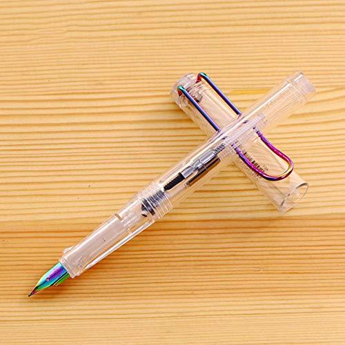 1-Teilig Nizza 401 Füllfederhalter Big Clip Haltungskorrektur Schreibstifte Für Schüler Schule Büromaterial Geschenkpapier, Klar, Ef