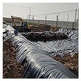 BAIYING Reißfeste Teichfolien, HDPE Fischteichfolien 0,3 MM Schutzunterlage Für Wasser Gartenteiche Bäche Brunnen, Einfach Zu Manövrieren (Color : Black, Size : 2X8M)