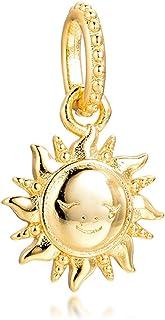PANDOCCI 2020 Primavera Scintillante Sole Ciondolo Perlina in Argento 925 Fai da Te Adatto per bracciali Pandora Originali...