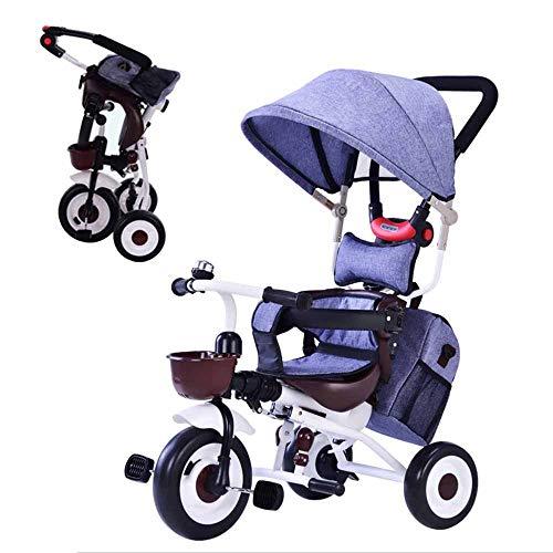 MUYU 3-in-1 kinderwagen met aluminium folie opbergtas Opvouwbare driewieler Multifunctionele kinderdriewieler Geschikt voor kinderen van 1-6 jaar