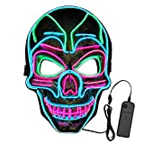 VATOS Halloween LED Mask, Scary Light Up Mask with 3 Light Up Modes and Soft Sponge for Halloween Costume Parties