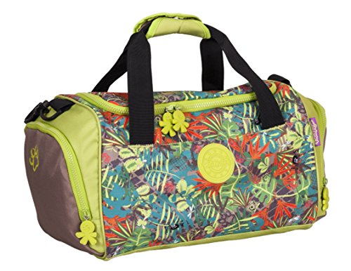 okiedog wildpack Jungle Fever 85020 Sporttasche mit Schuhfach Safari, braun/grün/orange