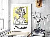 Sentado Mujer por Pablo Picasso LitografíA ExposicióN Poster Moderno Arte Pared Decoracion Regalo Cubismo Arte Lienzo Cuadros Salon Pared Poster 40x60cm No Marco