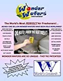 Wonder wafers 10 Ct Individually Wrapped CLEAN CAR Air Freshening Wafers