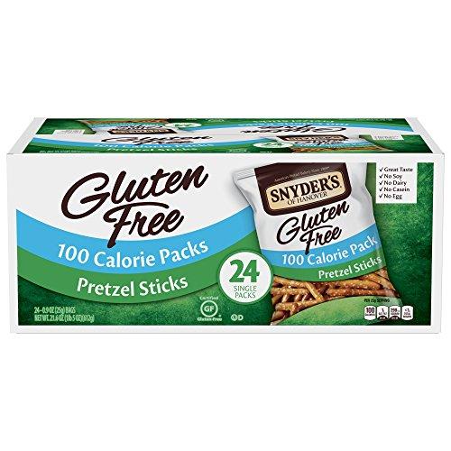 Snyder#039s of Hanover Gluten Free Pretzel Sticks 100 Calorie Individual Packs 24 Count