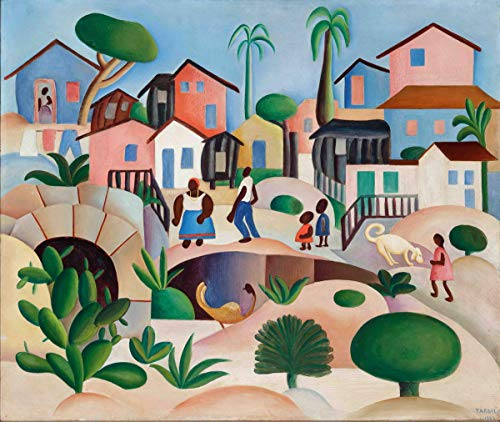 Berkin Arts Tarsila Do Amaral Giclee Auf Leinwand drucken-Berühmte Gemälde Kunst Poster-Reproduktion Wand Dekoration(Favela-Hügel) #XFB