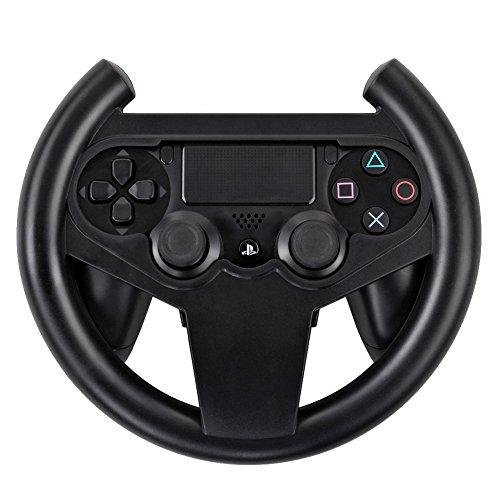 TNP PS4 Gaming Racing Steering Wheel - Gamepad Joypad Grip Controller for Sony Playstation 4 PS4 Black [Playstation 4]