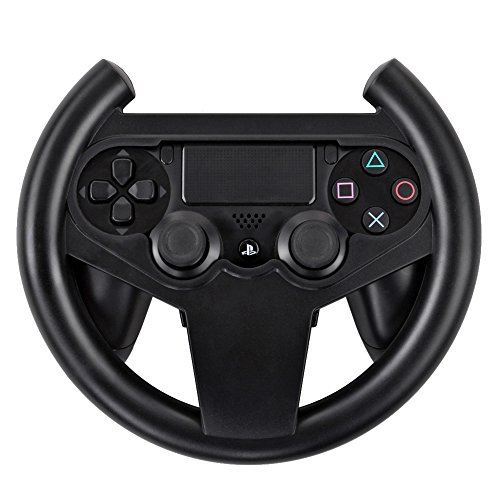 Price comparison product image TNP PS4 Gaming Racing Steering Wheel - Gamepad Joypad Grip Controller for Sony Playstation 4 PS4 Black [Playstation 4]