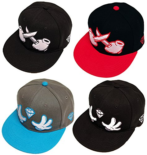 True Spin Crossed Criminal Mind Series Snapback Cap Neu Truespin(Black/Red)