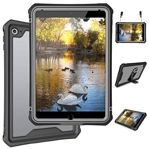 "iPad Mini 5 Case - Waterproof Case for iPad Mini 5th Generation Full Body Bumper Case with Built in Screen Protector Drop Proof Anti Scratch Anti Shock Clear Case Cover 7.9"" 2019"