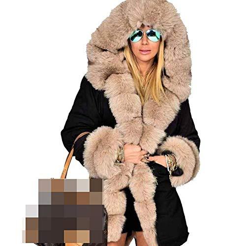 Goods-Store-uk Hooded Real Rex Liner Parkas Groothandel Vrouwen Jas Natuurlijke Jas