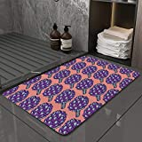 La Alfombra de baño es Suave y cómoda, Absorbente, Antideslizante,Impresión de Verduras Romanas de alcachofa,Apto para baño, Cocina, Dormitorio (50x80 cm)