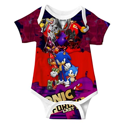 973 S-on-ic Fo-rces The H-edgeH-og 3D Print Baby Suit Onesies Infant Short Sleeve Climbing for Toddler