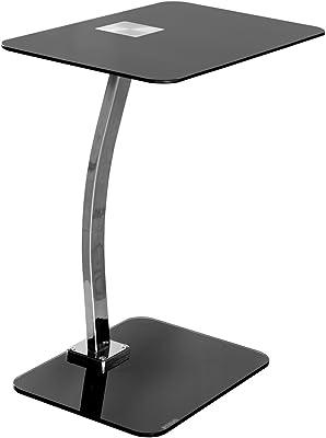 Febland Negro Laptop Mesa, Cristal, 58 x 47,5 x 31.5 cm: Amazon.es ...