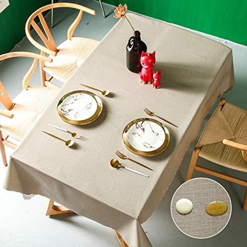 Pahajim Tovaglia Semplice e Moderno Tinta Unita Tovaglia Impermeabile Decorazione della Tavola da Pranzo Cucina Lavabile Antimacchia Tovaglia (Marrone, Quadrato,140x140cm,4 sedes)