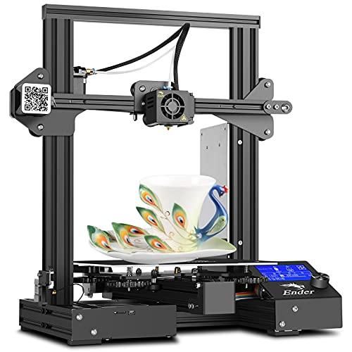 Creality Ender 3 Pro FDM DIY 3D Printers with UL Certified Power Supply, Removable Build Surface Plate, Resume Printing Function Metal Frame, 32bits Mainboard 220x220x250MM